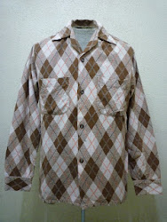 50's TRU VAL ARGYLE PRINTED COTTON FLANNEL SHIRTS