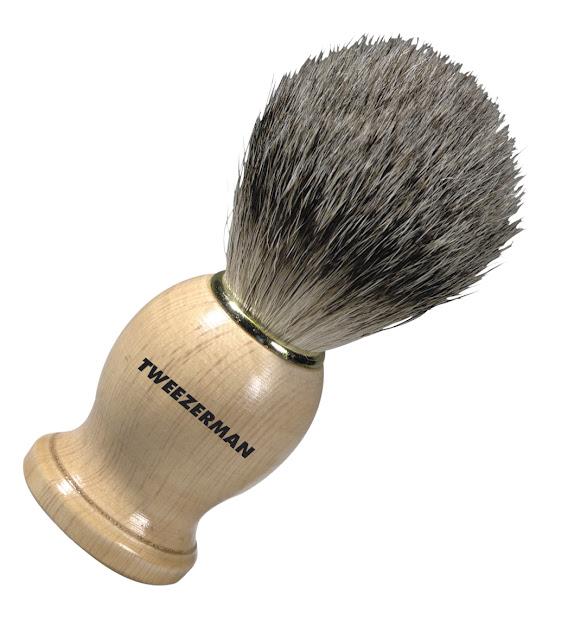 barber girl brush