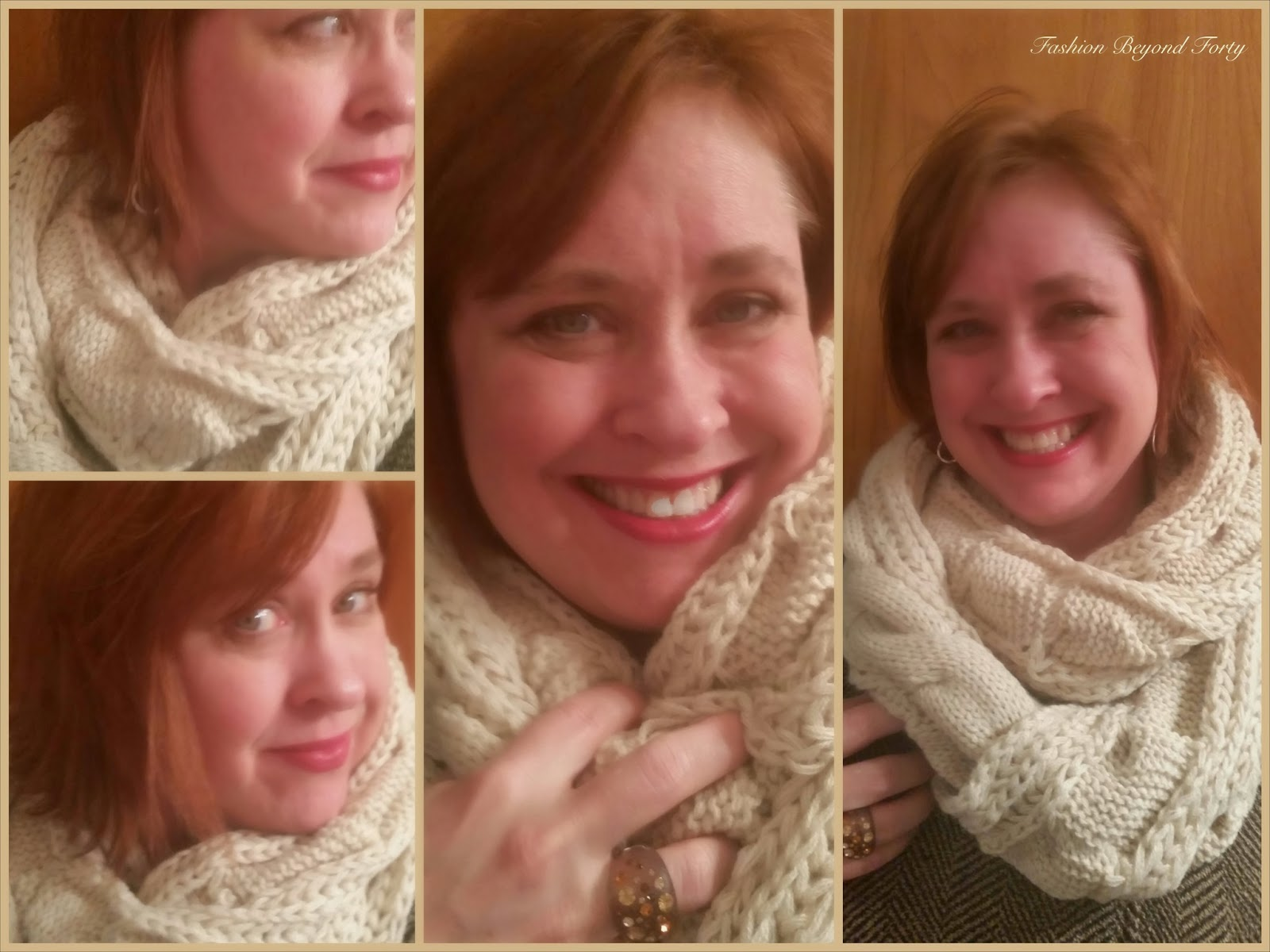 Humble Chic Chunky Knit Cold Weather Scarf Review and Drawing