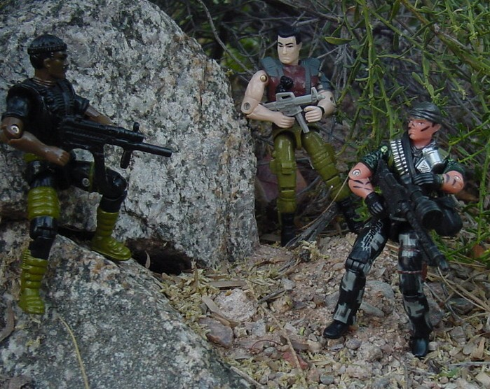 2004 Night Force Tunnel Rat, Toys R Us Exclusive, 1994 Stalker, 2001 Rock and Roll, Flint