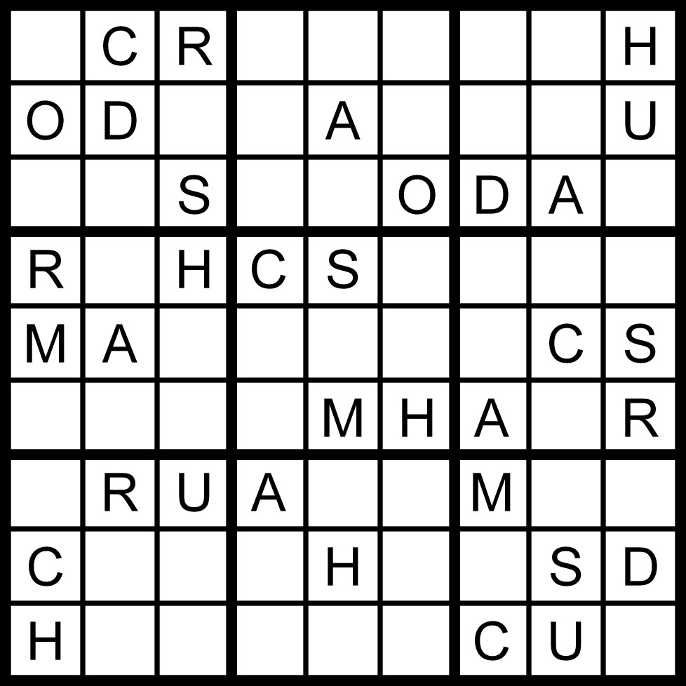 September 2011: Magic Word Square: September 2011