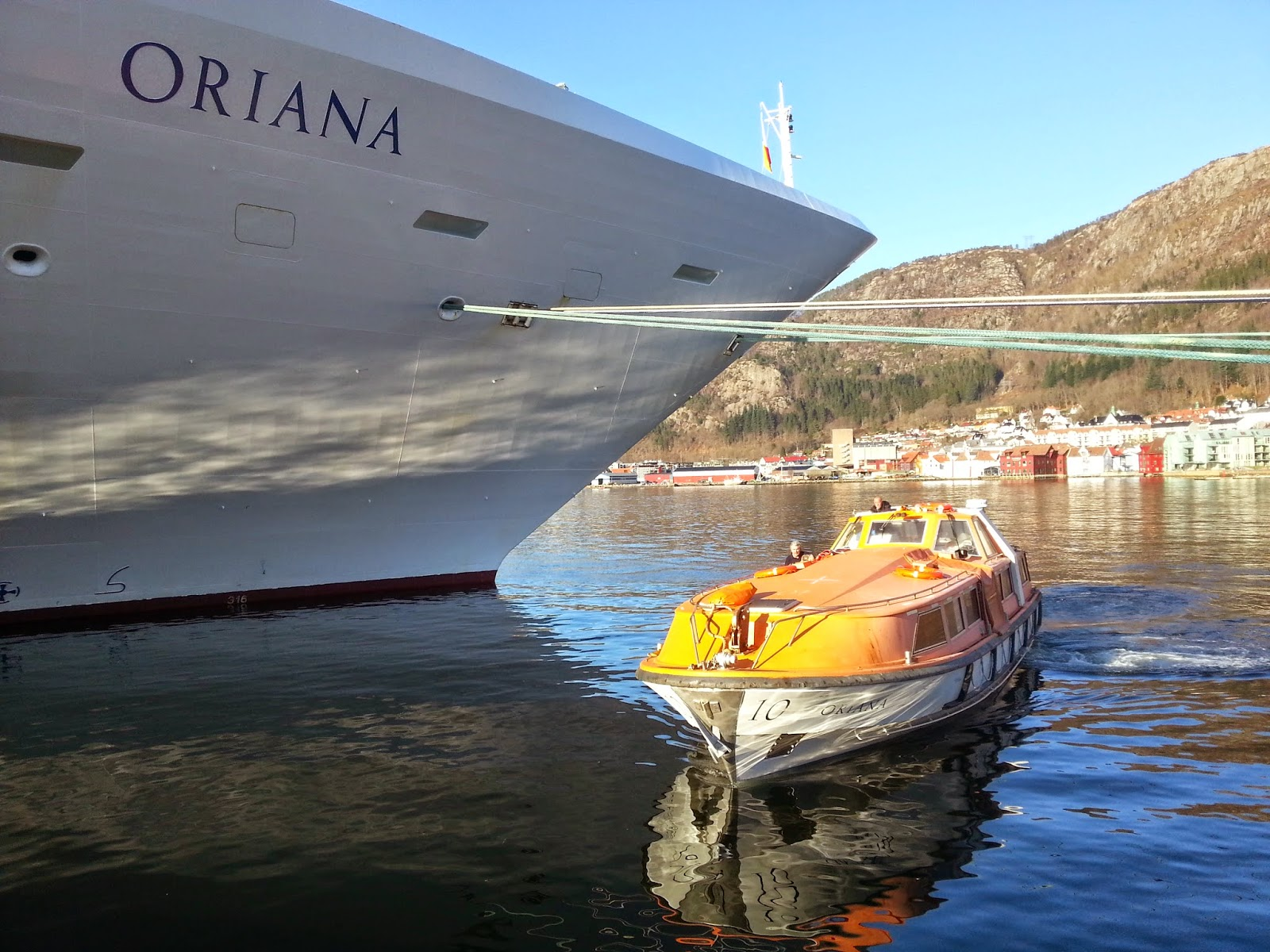 P&O Cruise Ship MV Oriana in Bergen, Norway