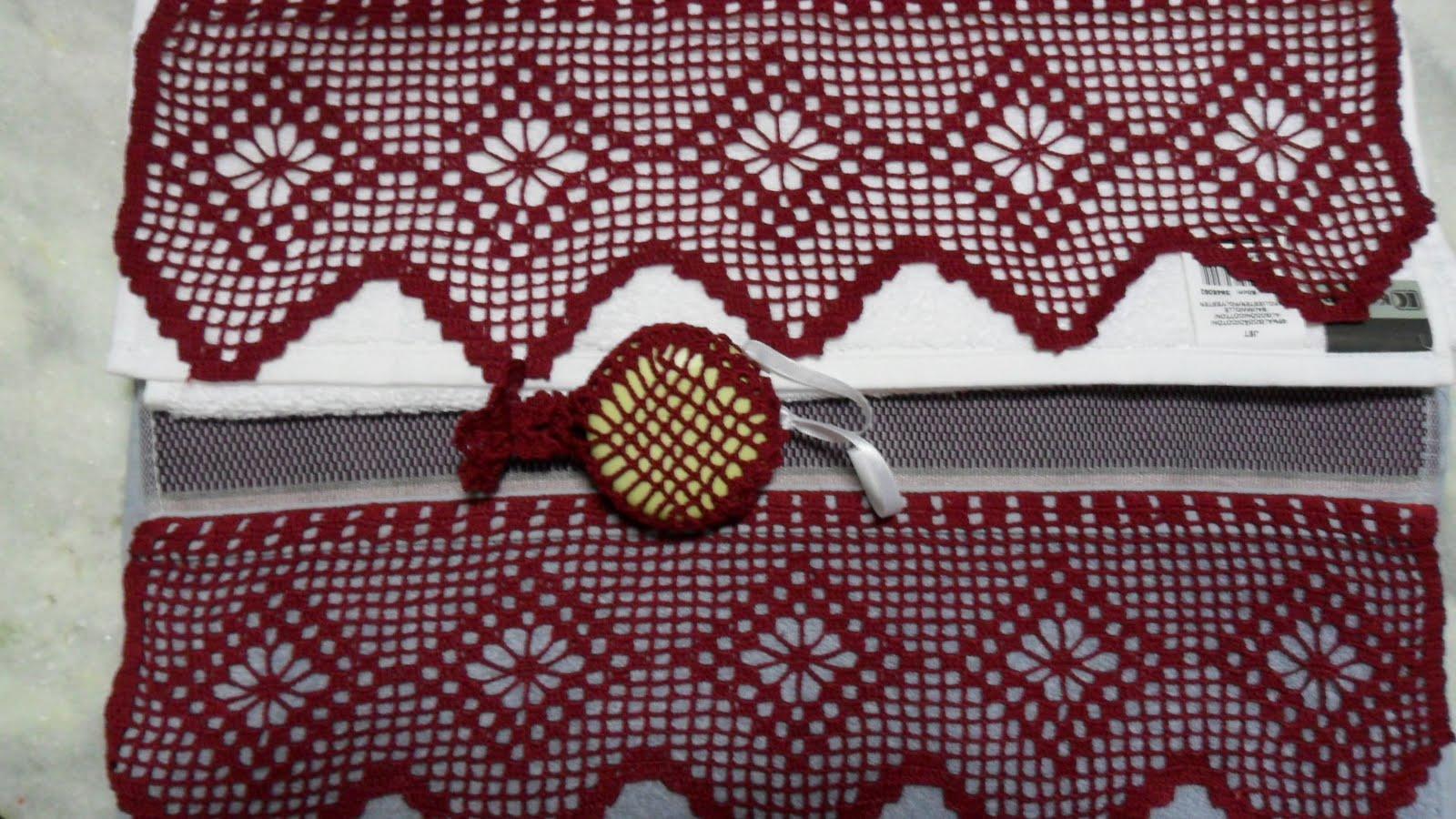 Mundo Encantado do Artesanato: Bico de crochê para toalha de banho