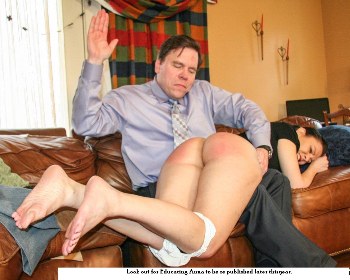 With hairbrush girl crying gets spanked