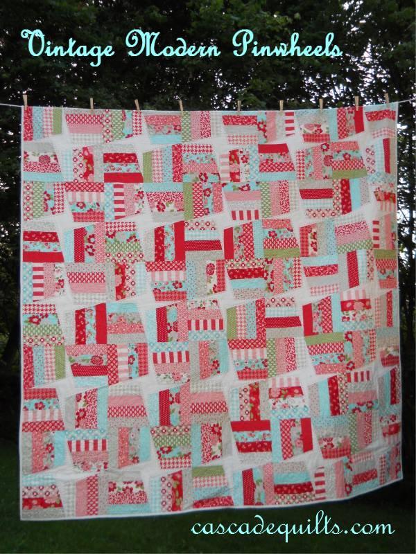 Vintage Modern Pinwheels Quilt Â« Moda Bake Shop : pinwheels quilt shop - Adamdwight.com