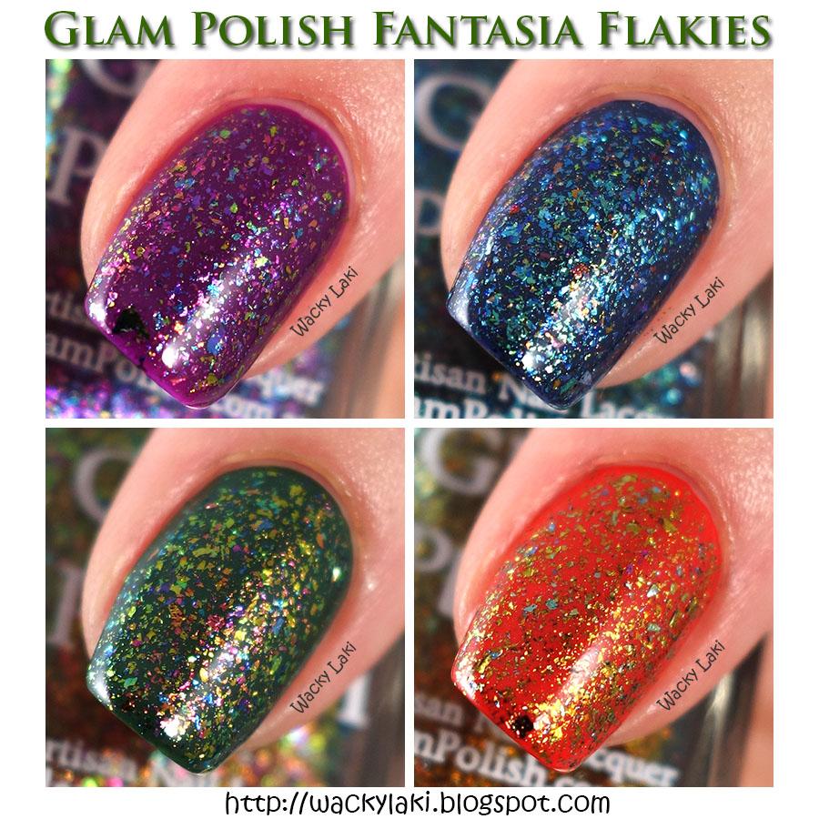 Wacky Laki: Glam Polish Fantasia Flakies Swatches and Review