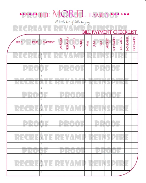 Personalized To Do Checklist Printable: