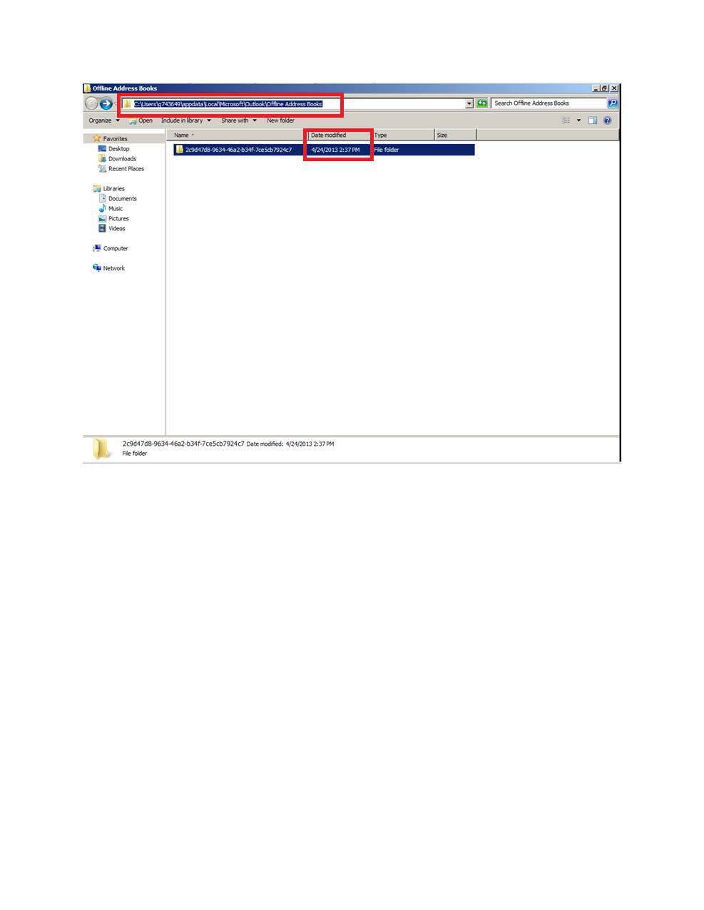 outlook download address book 2013