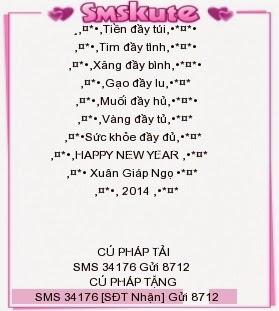 sms chúc tết 2014 2