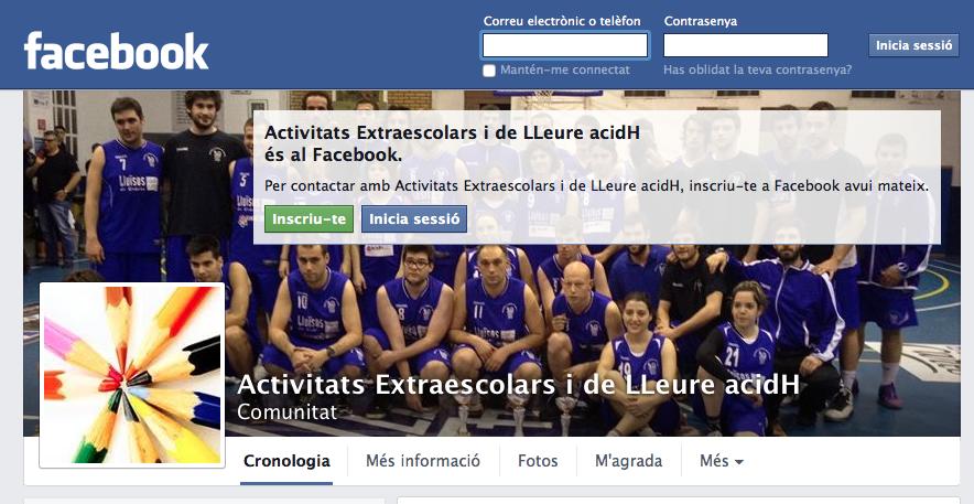 Facebook d'extraescolars