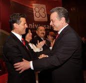 Pedro Joaquín Coldwell y Enrique Peña Nieto en el aniversario del PRI.