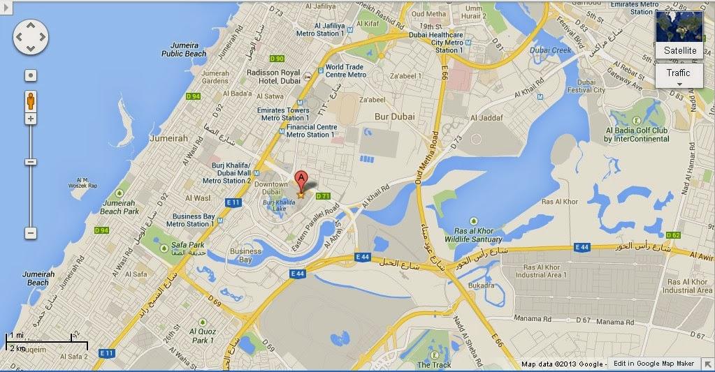 UAE Dubai Metro City Streets Hotels Airport Travel Map Info Detail Dubai Ice