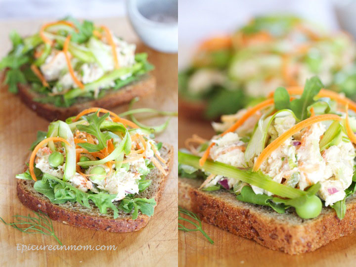 Epicurean Mom: Healthy Chicken Salad Sandwich Recipe