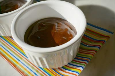 chocolate pudding in ramekin