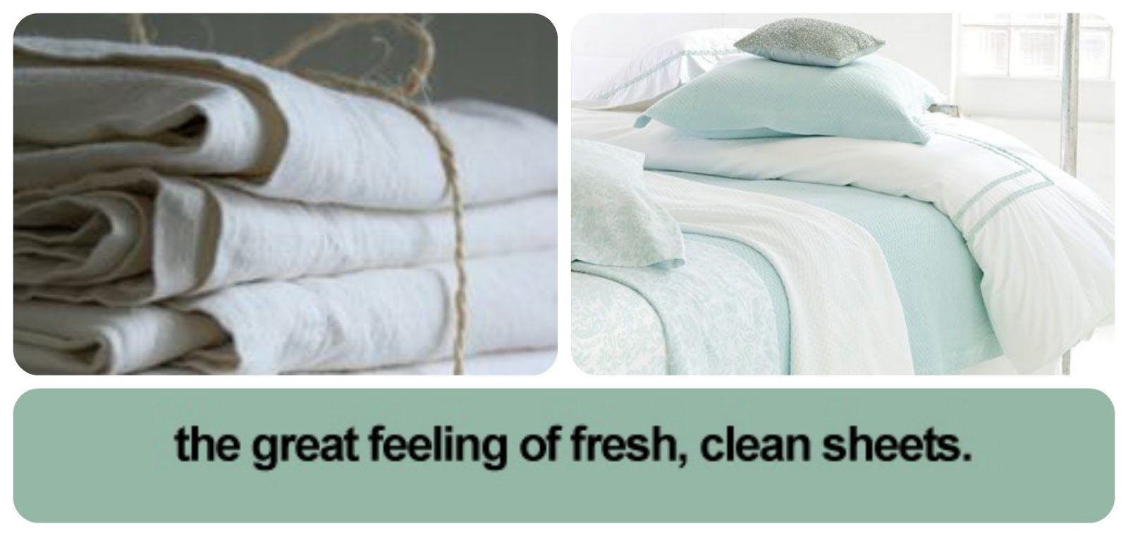 Me gustan las sábanas limpias / The great feeling of fresh, clean sheets