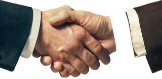 finalized with a handshake