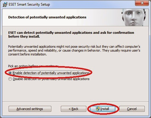 Detection of protentailly unwanted application