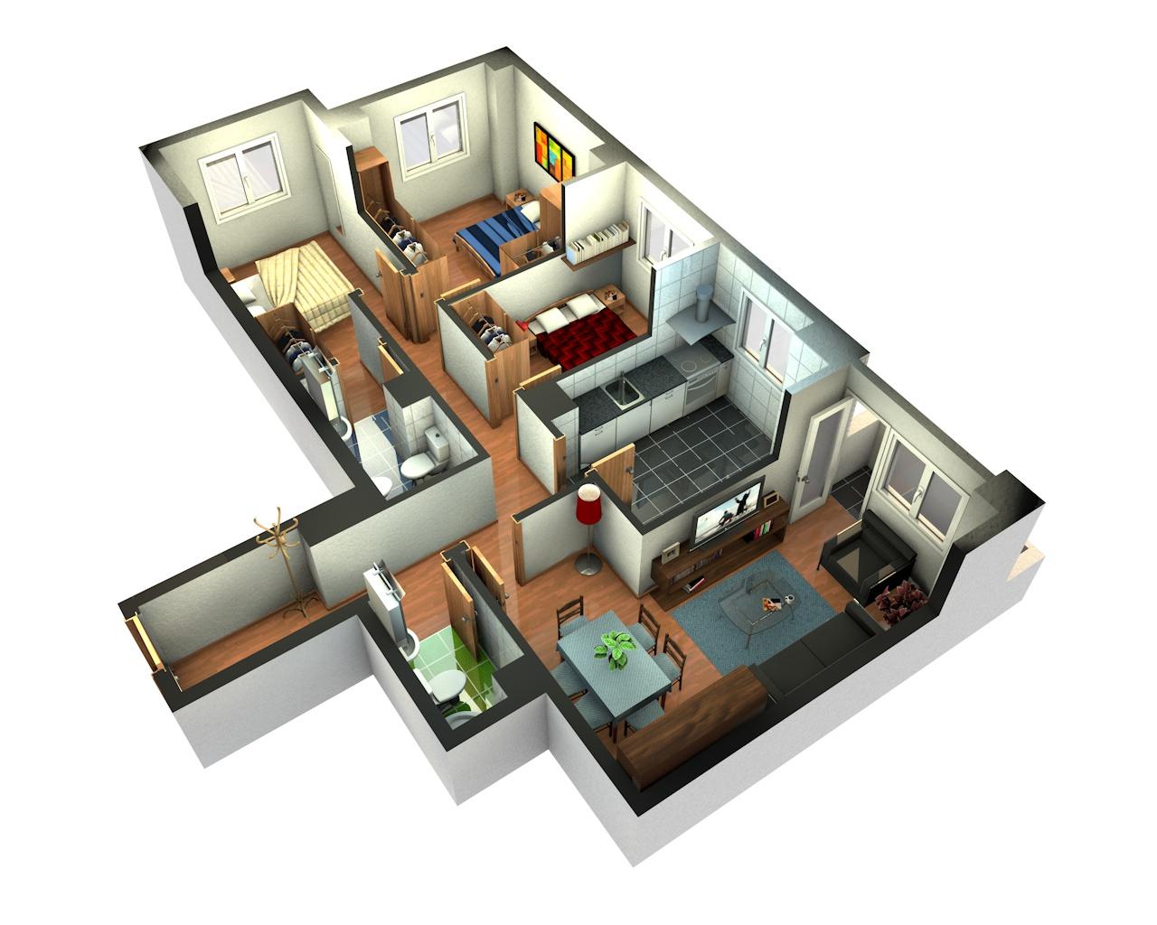 Foundation dezin decor 3d home plans - Planos de casa en 3d ...
