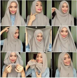 Tutorial Cara Pakai Hijab Modern Syar'i