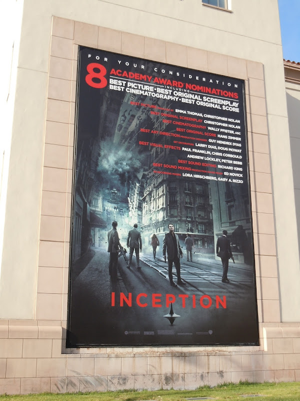 Inception Oscar billboard
