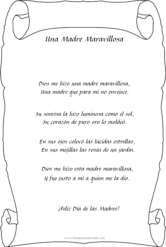 Poema Para El DIA De La Madre