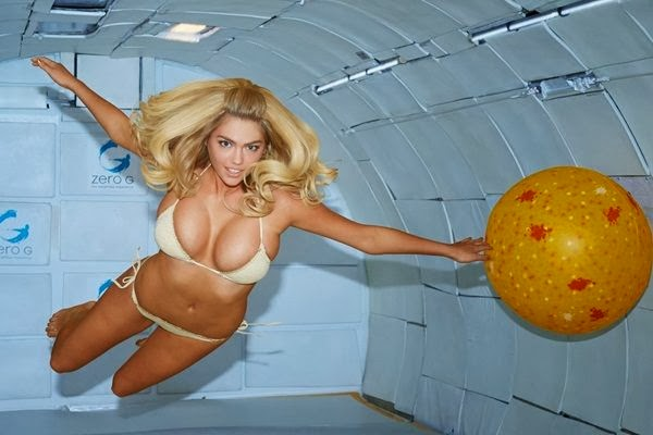 Hot Kate Upton performing shoot in zero gravity