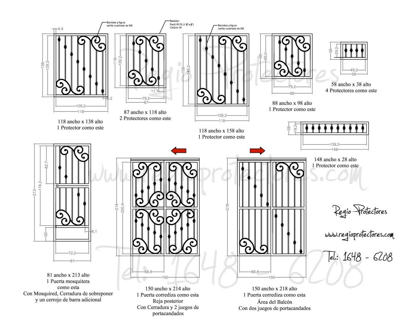 Protectores+para+ventana+de+hierro+forjado%2C+Fracc.+Fuentes+de+Santa