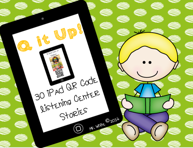 http://www.teacherspayteachers.com/Product/Q-it-Up-30-iPad-QR-Code-Listening-Center-Books-1306699