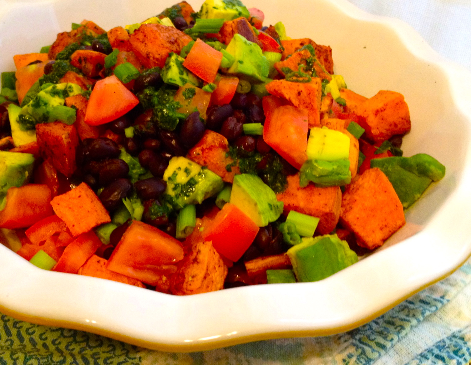 ... Sweet Potato Salad with Black Beans, Avocados and Cilantro Lime