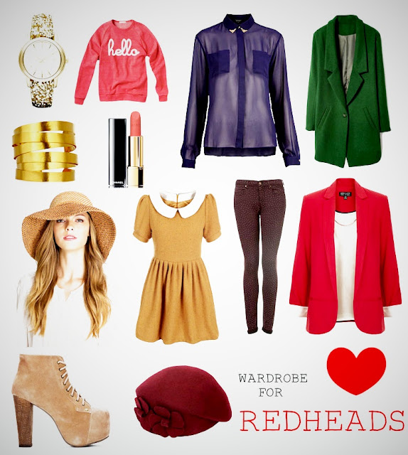 redhead wardrobe image
