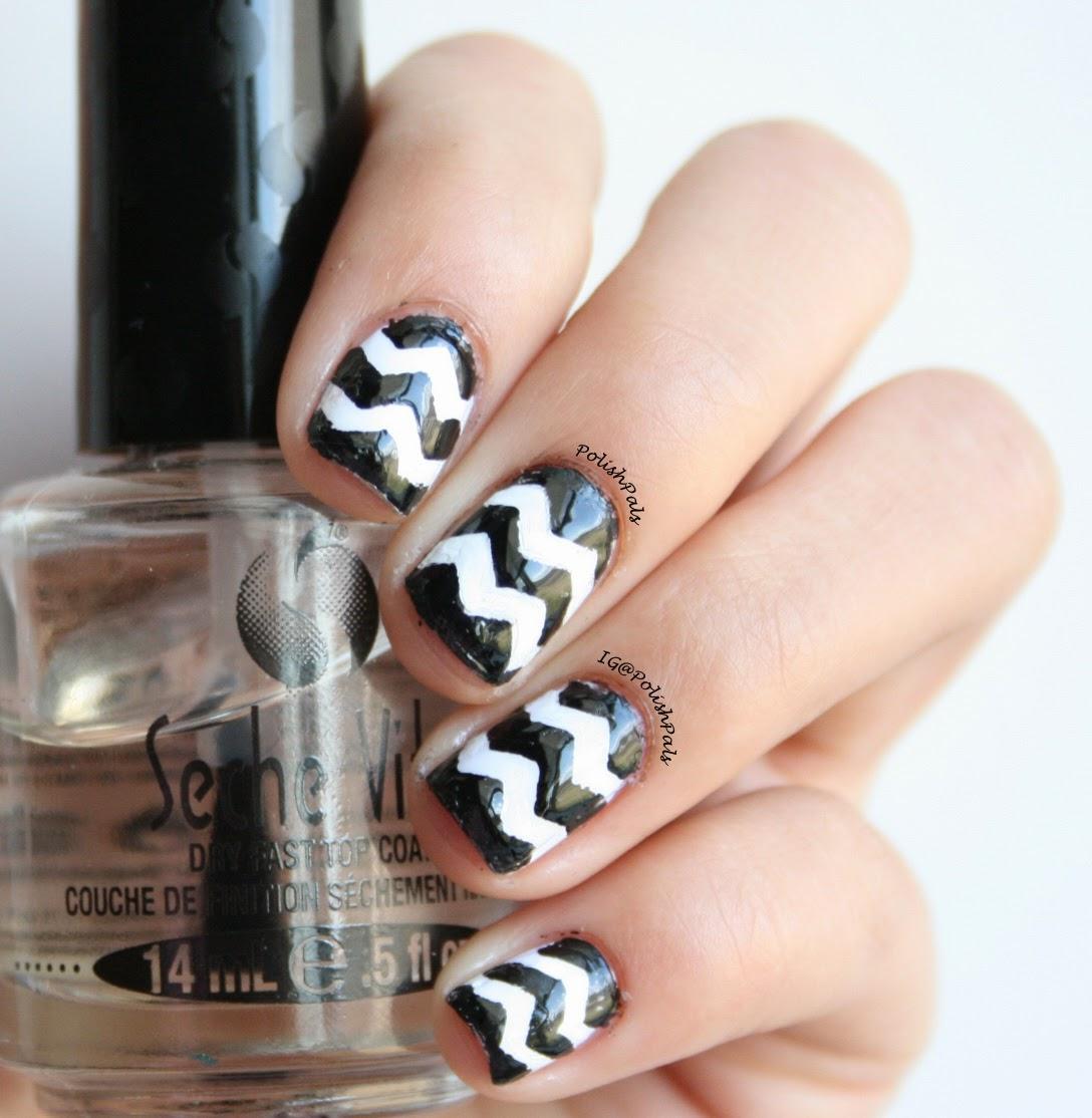 polish pals: classic chevron nails (+ tutorial)
