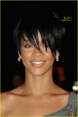 Rihanna short hairstyles 2011