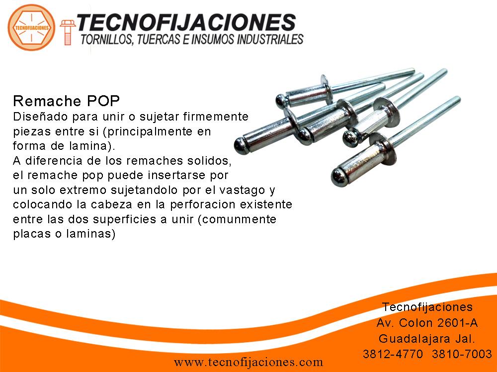 Tecnofijaciones sistemas de fijacion remache pop for Precio de remaches de aluminio