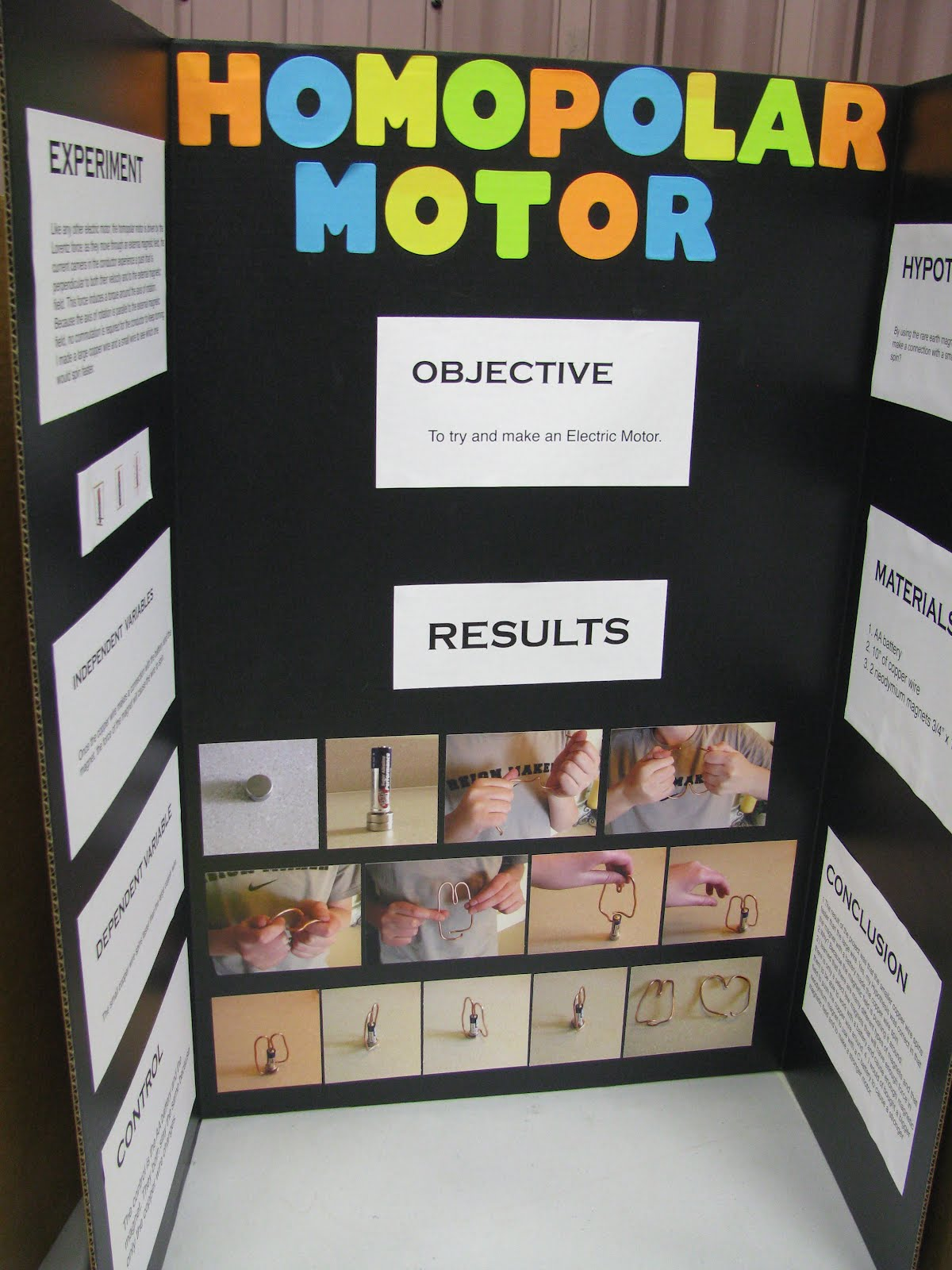 The dodd family science fair for Simple electric motor science project