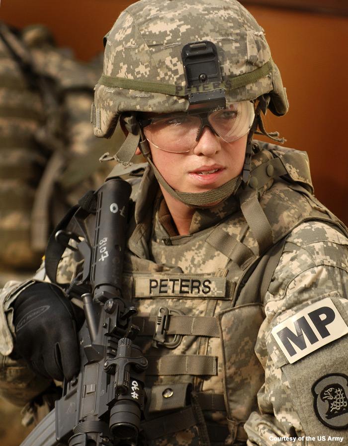 Woman in U.S Army Uniform
