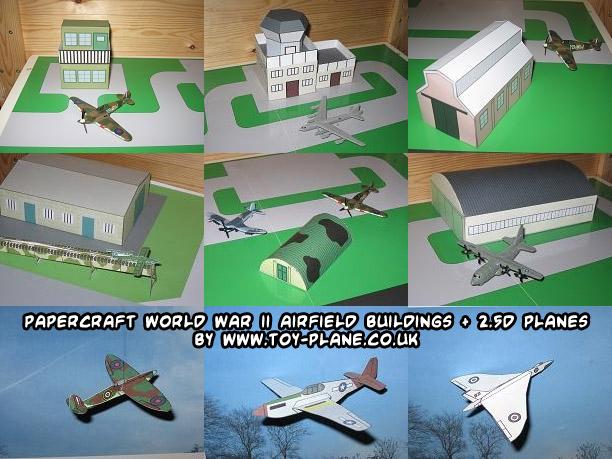 papercraft weblog: D/L #papercraft WWII airfield buildings   2.5D