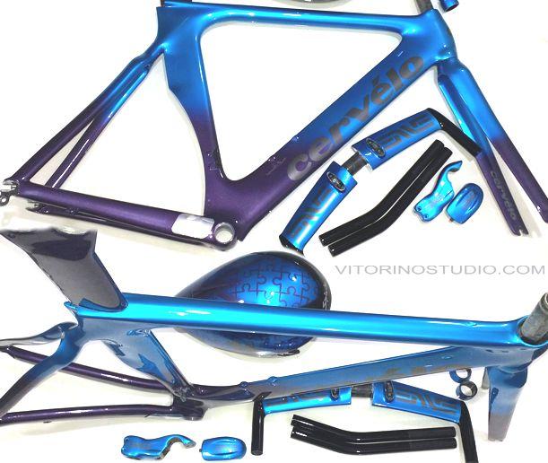 cervélo P2 roxo azul
