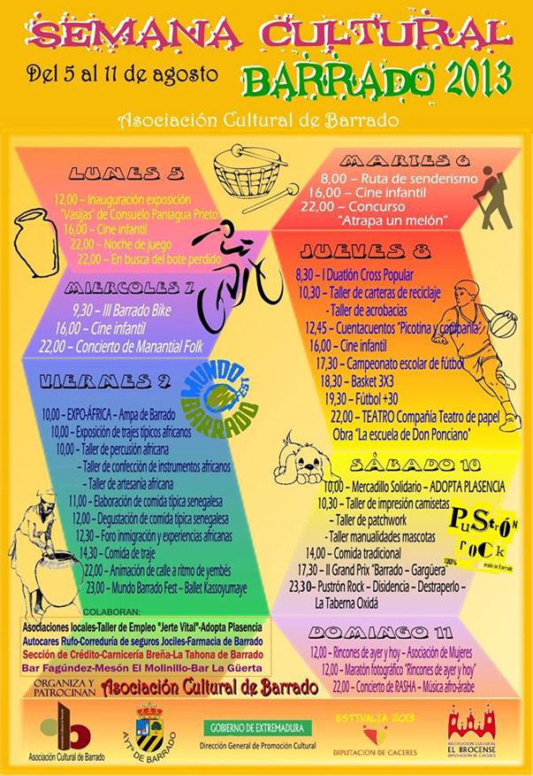 Semana Cultural de Barrado 2013
