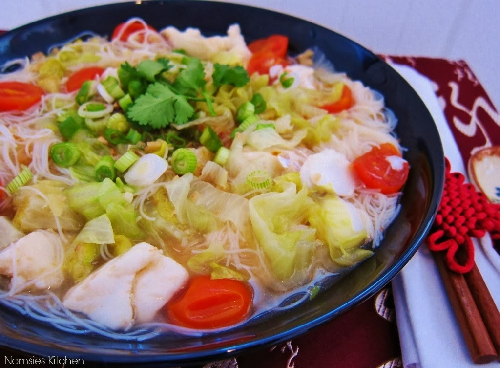 Cod Fish Noodle Soup from Nomsies Kitchen
