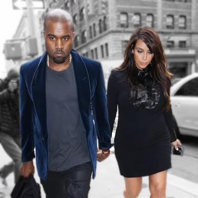 Kanye West and Kim Kardashian +1