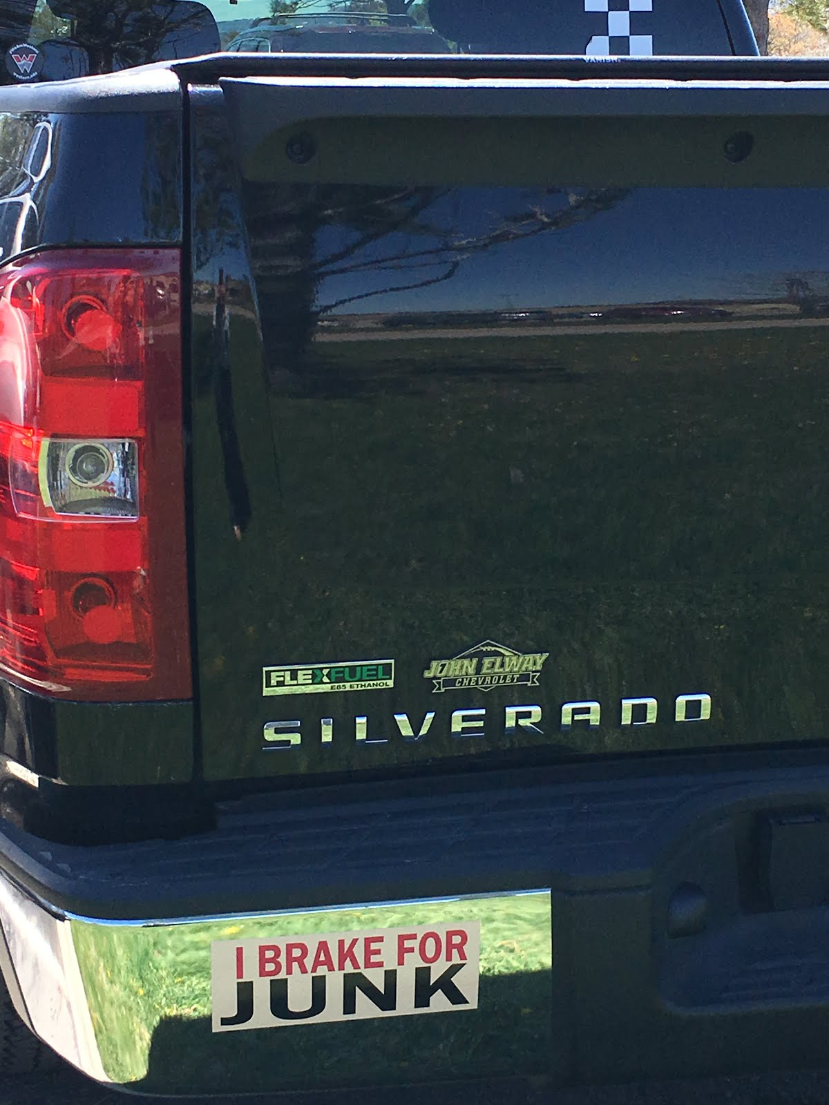 MY BUMPER STICKER SAYS IT ALL!