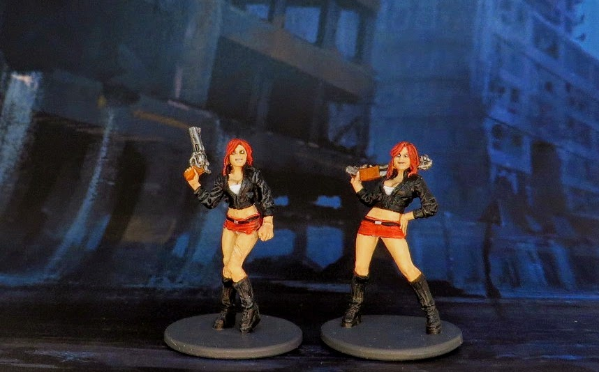 Zombicide, Lea, Teenager, Survivor, Zombivore, Zombievore, painted, Miniskirt, Wichita