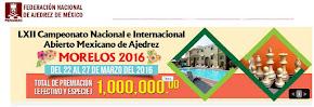 LXII Campeonato Nacional e Internacional Abierto Mexicano de Ajedrez (Clic a la imagen)