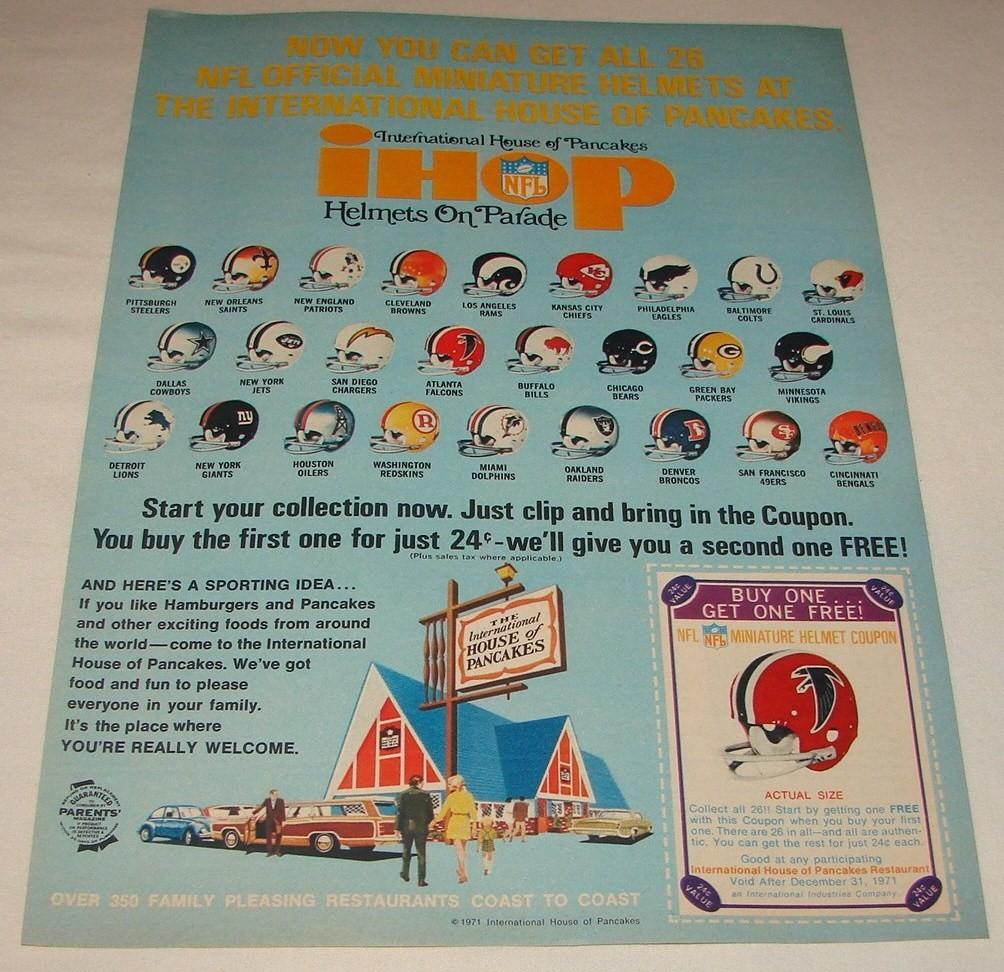 the fleer sticker project ihop nfl football helmets and standings