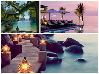 thailand honeymoon destination traveling collage