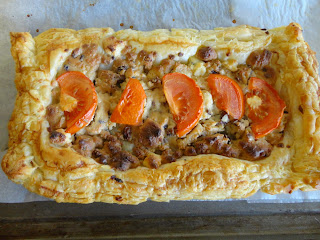 Fig and Walnut Tomato Tart