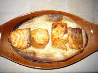 Красная рыба, запеченная в сливках: Красную рыбу запечь в духовке