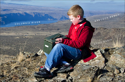 Columbia Basin geocache near Ice Age Floods erratics.