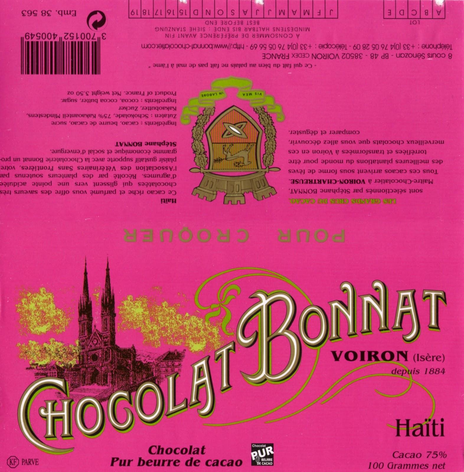 tablette de chocolat noir dégustation bonnat noir haïti