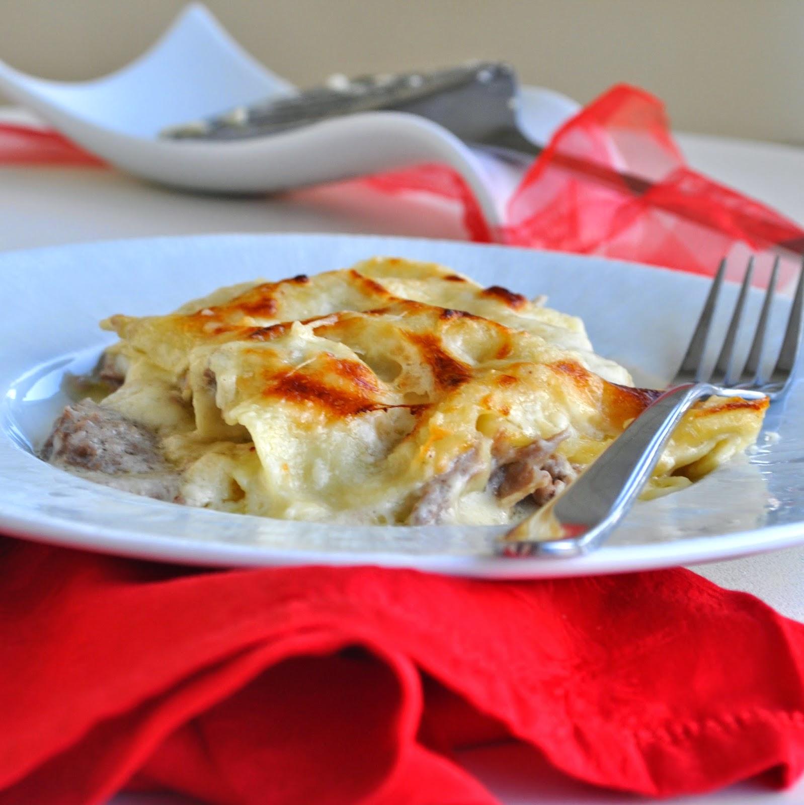 ... , braised duck ragu', and delicate and rich besciamella sauce